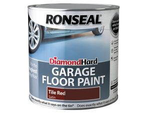 Diamond Hard Garage Floor Paint Tile Red 2.5 Litre