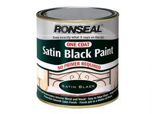 One Coat Paint Satin Black 250ml