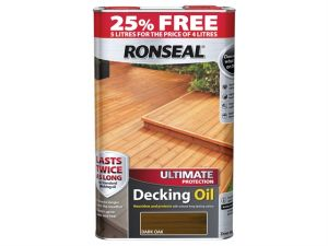 Ultimate Protection Decking Oil Dark Oak 4 Litre + 25%
