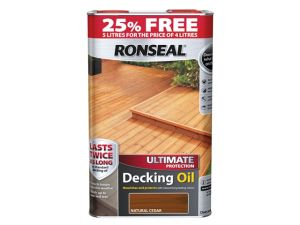 Ultimate Protection Decking Oil Natural Cedar 4 Litre + 25%