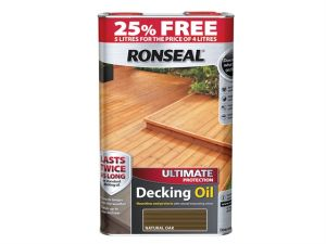 Ultimate Protection Decking Oil Natural Oak 4 Litre + 25%