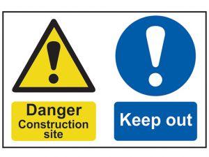Danger Contruction Site Keep Out - PVC 600 x 400mm