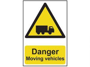 Danger Moving Vehicles - PVC 400 x 600mm