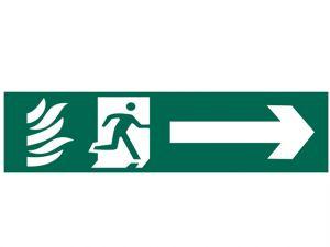 Running Man Arrow Right - PVC 200 x 50mm