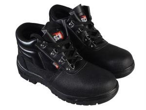4 D-Ring Chukka Black Safety Boots UK 9 Euro 43