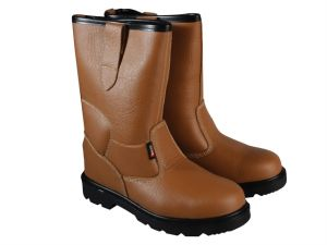 Texas Lined Tan Rigger Boots UK 8 Euro 42