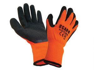 Thermal Latex Coated Gloves Size 9 Large (Pack 5)