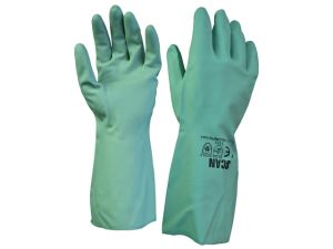 Nitrile Gauntlets with Flock Lining Size 9 Large