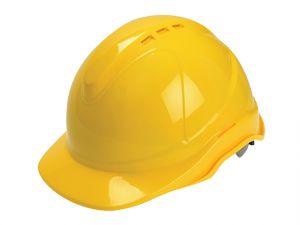 Superior Safety Helmet Yellow Ratchet Adjustment
