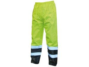 Hi-Vis Motorway Trouser Yellow Black - XL (44in)