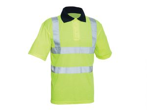 Hi-Vis Yellow Polo Shirt - L (42in)