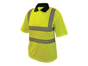 Hi-Vis Yellow Polo Shirt - M (40in)