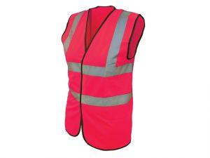 Hi-Vis Waistcoat Pink - L (44in)