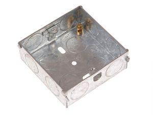Metal Back Box 1 Gang 16mm Depth - Carded