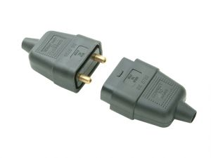 Black Plug & Socket 10A 2 Pin