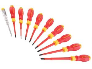 FatMax® VDE Insulated Phillips, Pozi & Slotted Screwdriver Set, 10 Piece