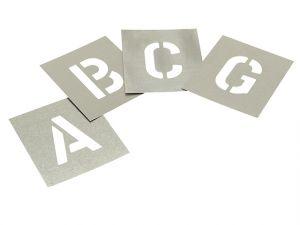 Set of Zinc Stencils - Letters 1in Walleted