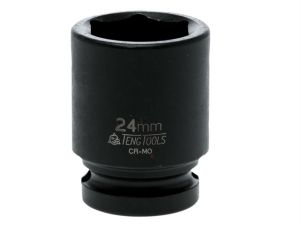 Impact Socket Hexagon 6 Point 1/2in Drive 24mm