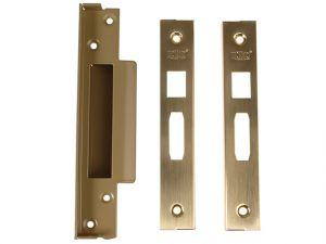 StrongBOLT 2200 Mortice Sashlock Rebate Kit 13mm Polished Brass Box