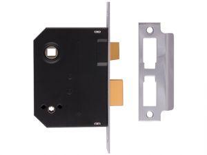 2294 Mortice Bathroom Lock Chrome Finish 76mm 3in Box