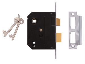 2295 2 Lever Mortice Sashlock Chrome Finish 76mm 3 in Box
