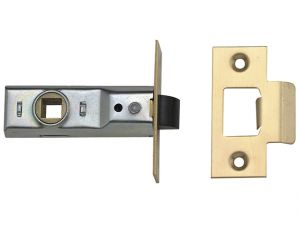 Tubular Mortice Latch 2648 Silver Enamel 76mm 3in Box