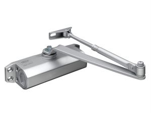 CE3F Fixed Size 3 Rack & Pinion Door Closer Silver