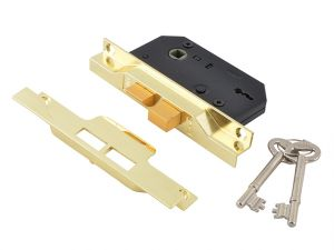 2242 2 Lever Mortice Rebated Sashlock Electro Brass 65.5mm 2.5in Visi