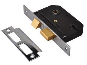 ES-SL Essentials 3 Lever Mortice Sashlock Chrome 65mm 2.5in Visi