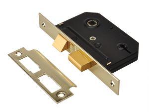 ES-SL Essentials 3 Lever Mortice Sashlock Polished Brass 65mm 2.5in Visi