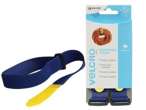 VELCRO® Brand Adjustable Straps(2) 25mm x 92cm Blue