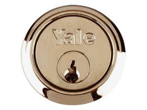 P1109 Replacement Rim Cylinder & 2 Keys Polished Brass Finish Visi