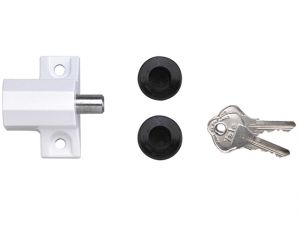 P114 Patio Door Lock Polished Chrome Finish Visi-pack