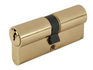 Euro Double Cylinder Kitemark 40 x 50 (100mm) Polished Brass Visi