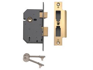 PM550 5 Lever Mortice Sashlock Polished Brass 67mm 2.5in