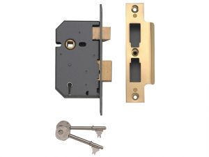 PM550 5 Lever Mortice Sashlock Polished Brass 80mm 3in
