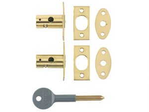 8001 Security Bolts Brass Finish Pack of 2 Visi