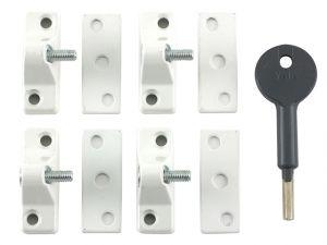 8K118 Economy Window Lock White Finish Pack of 4 Visi