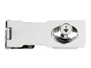 Y116/115 Locking Hasp Chrome Plated 116mm